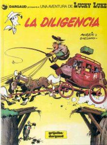 "Portada del comic de Lucky Luke ""La Diligencia"""