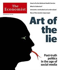 """The Economist"", portada, ""Art of the lie"""
