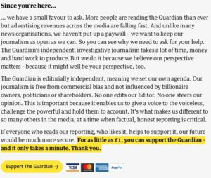 The Guardian, contribución lectores