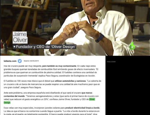 Oliver Design diseña el crucero más ecológico del mundo (Noticias La Sexta)