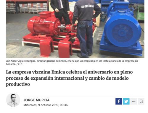 120º Aniversario de la firma EMICA Bombas en «El Correo»