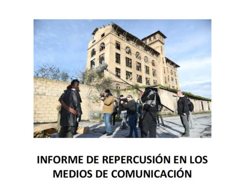 Reflejo en los medios de comunicación del rodaje de «Utopia Planitia» en Bilbao