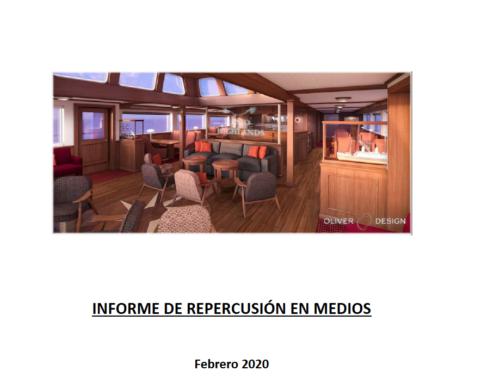 Reflejo en los medios de comunicación de la nota de prensa sobre el balance 2019 y perspectivas 2020 de la empresa de diseño naval Oliver Design