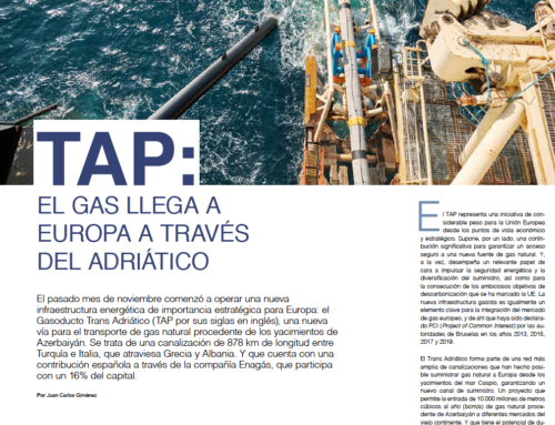 Reportaje de portada en la revista «Gas Actual»: Gasoducto Trans Adriático, la nueva vía de suministro a Europa